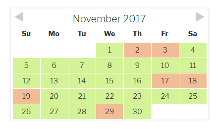 Checkfront Calendar - Daily View