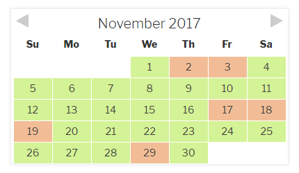 Checkfront Availability Calendar - Item 2