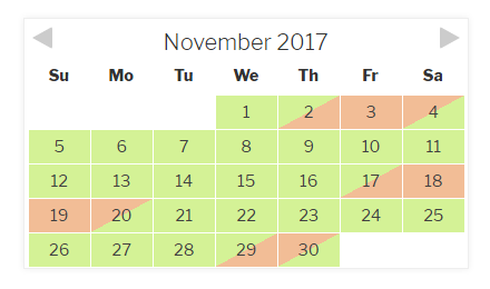 Checkfront Calendar - Nightly View