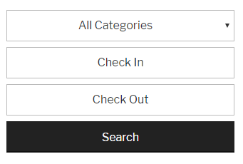 Checkfront Date and Category Search - Mobile View
